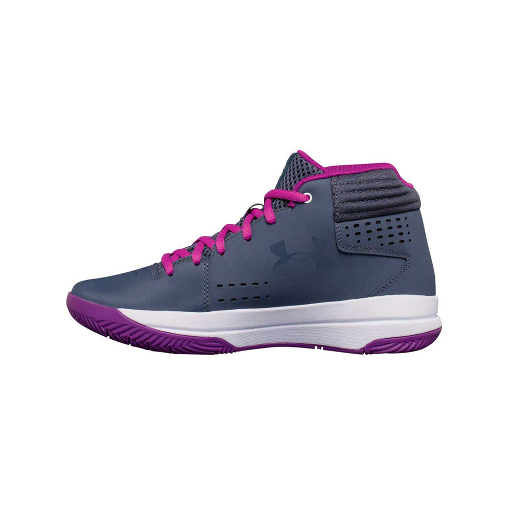 1c214e80845 Under Armour Jet 2017 Girls Basketball Shoes Purple   White US 4 ...