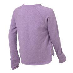 Ell & Voo Girls Amanda LS Relaxed Crew Sweatshirt Purple 6, Purple, rebel_hi-res