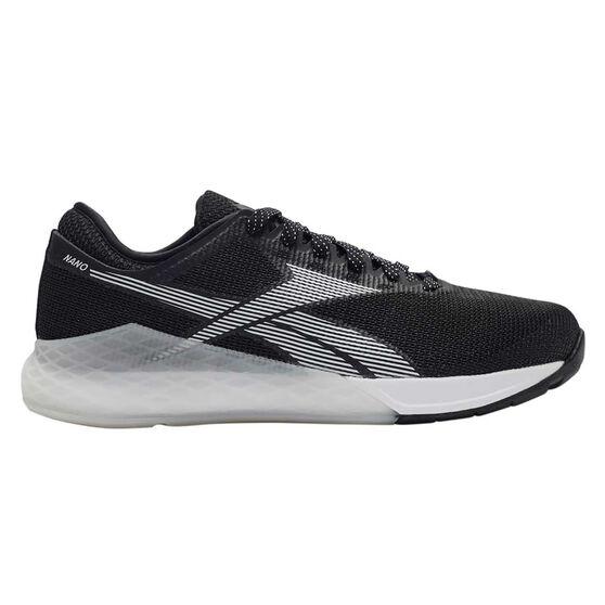 Reebok Nano 9 Womens Training Shoes, Black / White, rebel_hi-res