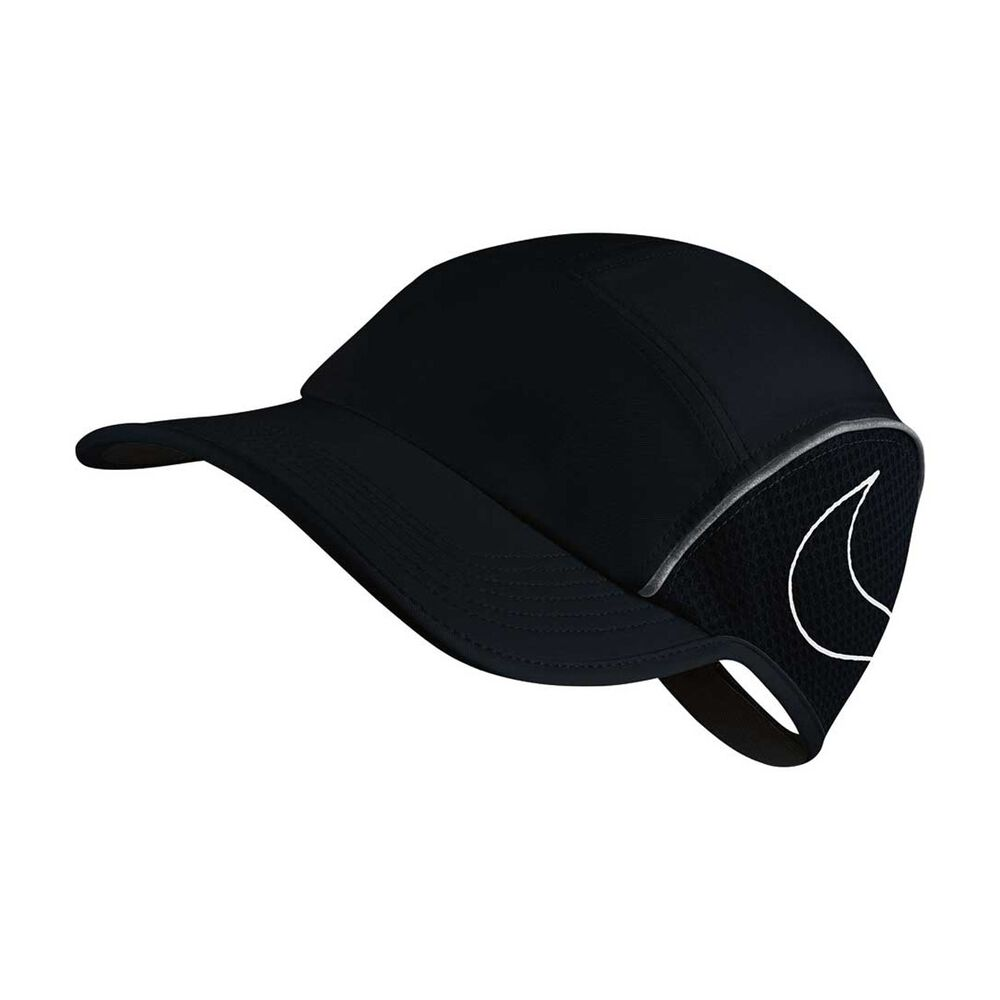 c668af79aa86d Nike Womens AeroBill Running Cap Black   Grey OSFA