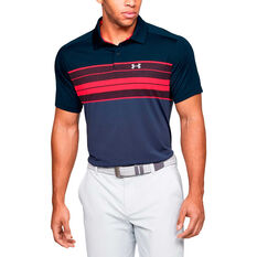 Under Armour Mens Vanish Chest Stripe Polo Navy S, Navy, rebel_hi-res