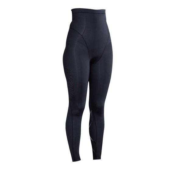 2XU Womens Postnatal Active Tights, Black / Black, rebel_hi-res