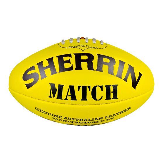 Sherrin Match Australian Rules Ball Yellow 5, , rebel_hi-res