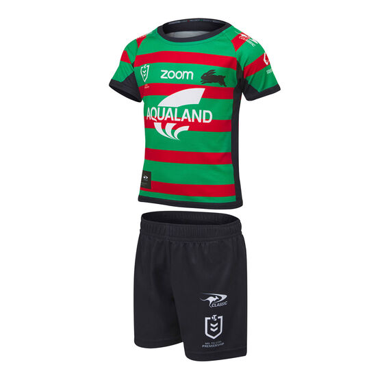 South Sydney Rabbitohs 2021 Toddler Home Jersey Set, Green, rebel_hi-res