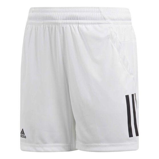 adidas Boys Club 3S Tennis Shorts, White, rebel_hi-res