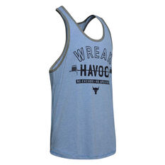 Under Armour Mens Project Rock Wreak Havoc Tank Blue XS, Blue, rebel_hi-res