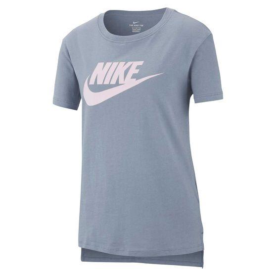 Nike Girls DPTL Basic Futura T-Shirt, Grey / Pink, rebel_hi-res