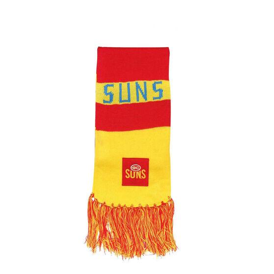 AFL Gold Coast Suns Supporter Scarf OSFA, , rebel_hi-res