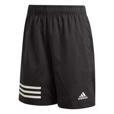 adidas Boys 3-Stripes Shorts Black / White 6, Black / White, rebel_hi-res