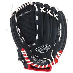 Rawlings Players 12in Right Hand Throw Baseball Glove Black, , rebel_hi-res