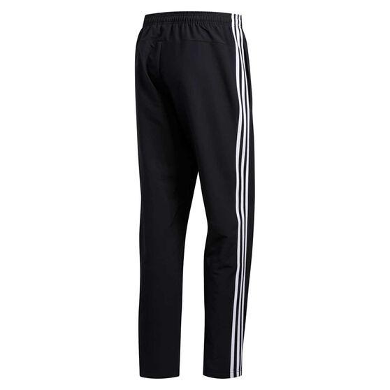 adidas Mens Essentials 3-Stripes Woven Pants, Black, rebel_hi-res