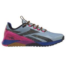 Reebok Nano X1 Adventure Womens Training Shoes Grey/Pink US 6, Grey/Pink, rebel_hi-res