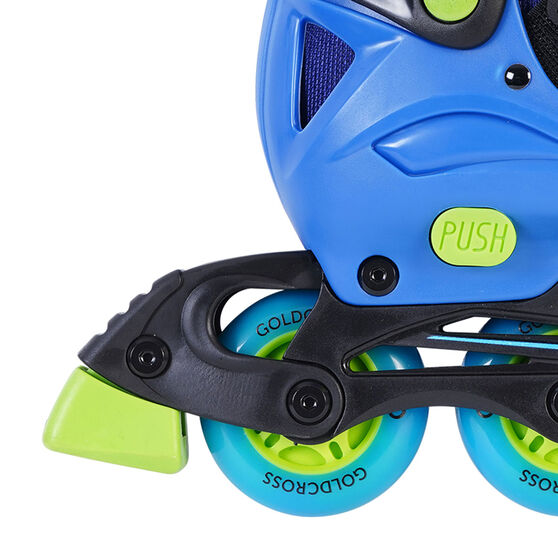 Goldcross GXC245 Light Up Inline Skates, Blue, rebel_hi-res