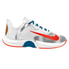 NikeCourt Air Zoom GP Turbo Hardcourt Mens Tennis Shoe White/Green US 7, White/Green, rebel_hi-res