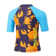 Tahwalhi Toddler Crab Rash Vest, Orange / Blue, rebel_hi-res