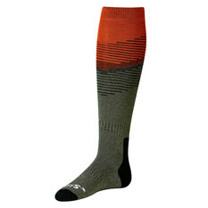 SVNT5 Mens Interlock Socks Grey / Orange US 8 - 12, , rebel_hi-res