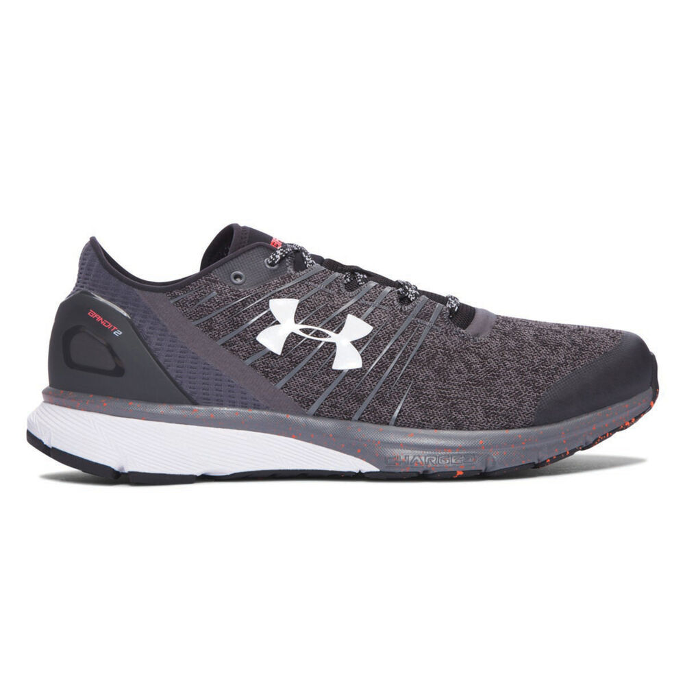 Under Armour Charged Bandit 2 Mens Running Shoes Grey   White US 8 ... f534559aa1d