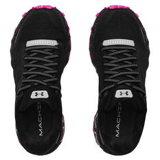 Under Armour HOVR Machina Off Road Womens Trail Running Shoes, Black/Pink, rebel_hi-res
