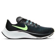 Nike Air Zoom Pegasus 37 Kids Running Shoes Blue / Green US 1, , rebel_hi-res