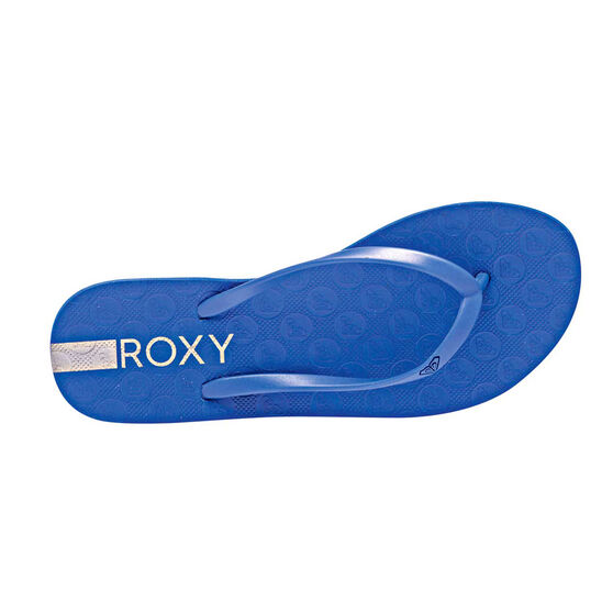 Roxy Baracoa Womens Thongs, Royal Blue, rebel_hi-res