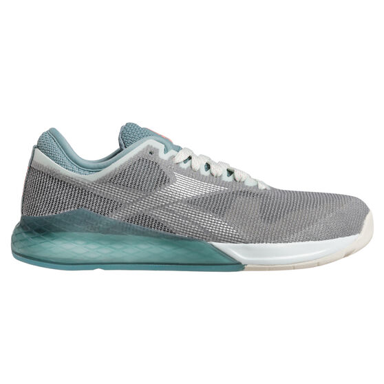 Reebok Nano 9 Womens Training Shoes Grey / Teal US 10, , rebel_hi-res
