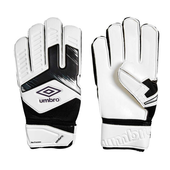 Umbro Neo Precision Goalkeeping Gloves, White / Purple, rebel_hi-res