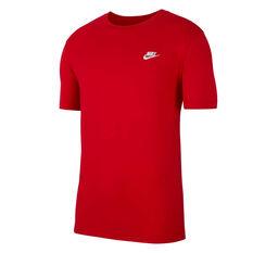 Nike Sportswear Mens Club Tee Red XS, Red, rebel_hi-res