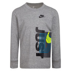 Nike Boys LS Graphic Tee Grey 4, Grey, rebel_hi-res