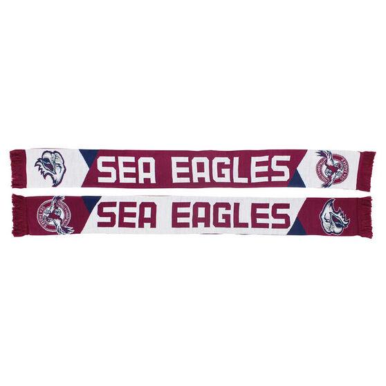 Manly Warringah Sea Eagles Geo Jacquard Scarf, , rebel_hi-res
