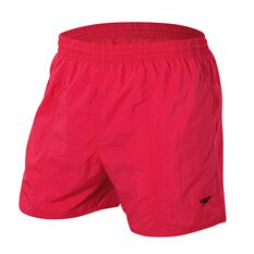 Speedo Mens Solid Leisure Swim Shorts Scarlet S Adult, Scarlet, rebel_hi-res