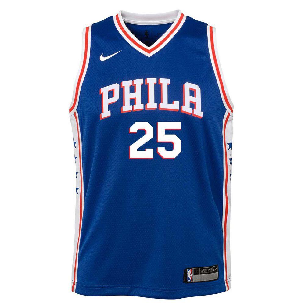 online store 0a991 cb78e Nike Philadelphia 76ers Ben Simmons 2018 Kids Swingman Jersey