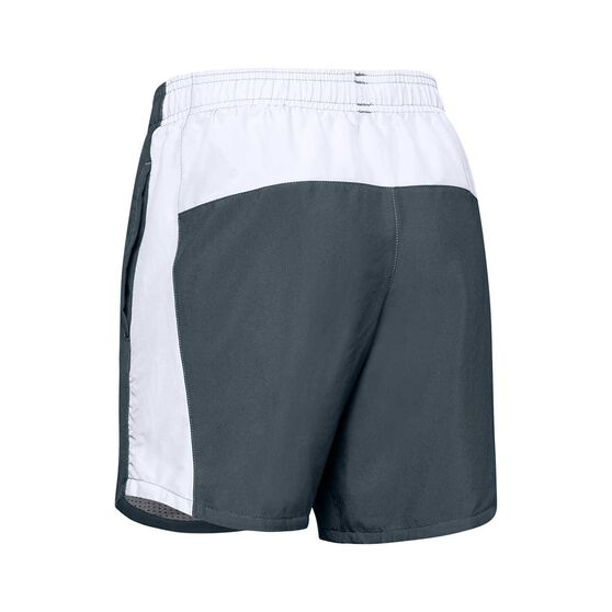 Under Armour Boys Woven Shorts, Grey / White, rebel_hi-res