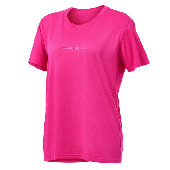 Running Bare Brando Rebel Tee, Pink, rebel_hi-res