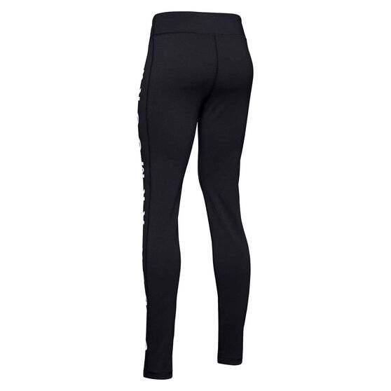 Under Armour Girls Sportstyle Branded Leggings, Black, rebel_hi-res