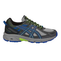 Asics Gel Venture 6 Boys Running Shoes Grey / Black US 1, Grey / Black, rebel_hi-res