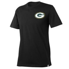 Green Bay Packers Mens Drimer Tee Black S, Black, rebel_hi-res