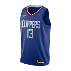Nike Los Angeles Clippers Paul George Mens Icon Edition Swingman Blue / Red S, , rebel_hi-res