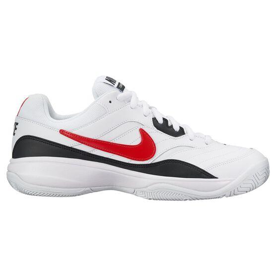 Nike Court Lite Mens Tennis Shoes White / Red US 8, White / Red, rebel_hi-res