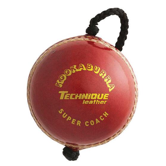 Kookaburra Super Coach Leather Training Cricket Ball, , rebel_hi-res