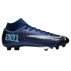 Nike Mercurial Superfly VII Academy MG Football Boots Blue / Silver US Mens 7 / Womens 8.5, Blue / Silver, rebel_hi-res