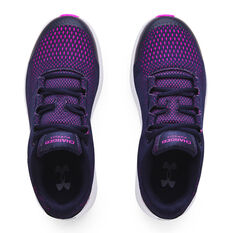 Under Armour Charged Pursuit 2 Kids Running Shoes, Navy, rebel_hi-res