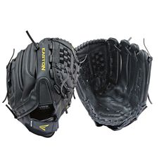 Easton Reflex Cowhide Right Hand Glove Black / Yellow 12.5in, , rebel_hi-res