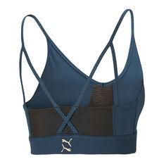 Puma Womens Exhale Studio Sports Bra Blue XS, Blue, rebel_hi-res