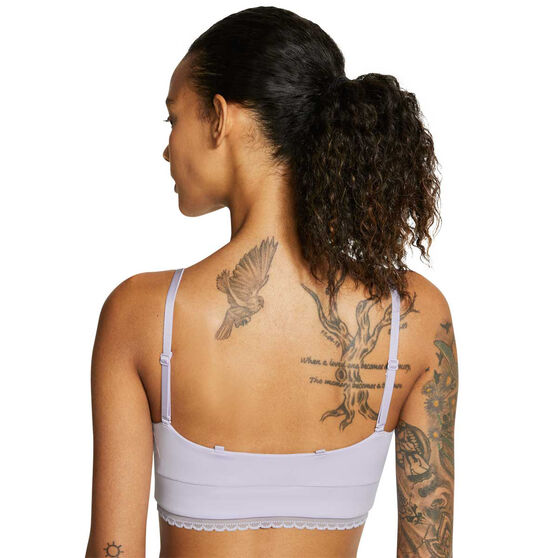 Nike Womens Indy Luxe Light Support Sports Bra, Purple, rebel_hi-res