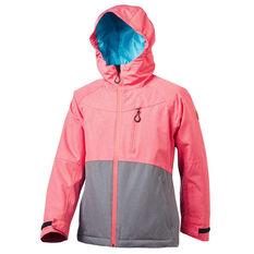 Tahwalhi Girls Angel Dust Ski Jacket Pink / Grey 4, Pink / Grey, rebel_hi-res
