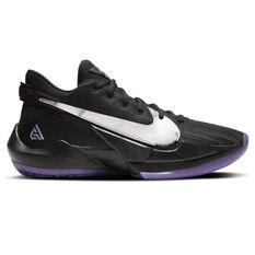 Nike Zoom Freak 2 Mens Basketball Shoes Black/Silver US 7, Black/Silver, rebel_hi-res
