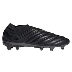 adidas Copa 19+ Football Boots Black / Silver US Mens 7 / Womens 8, Black / Silver, rebel_hi-res