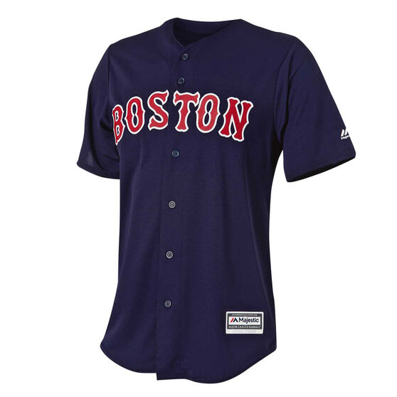 official photos a4353 0a1b9 Boston Red Sox Mens Home Jersey Navy M
