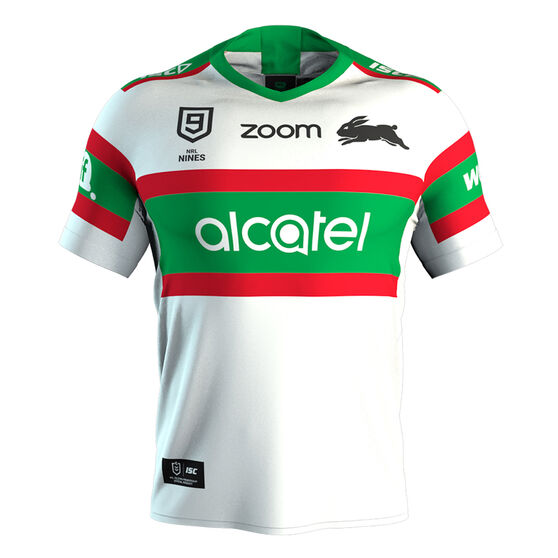 South Sydney Rabbitohs Nines 2020 Mens Jersey White M, White, rebel_hi-res