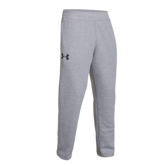 8aa208fc8 Under Armour Mens Rival Fleece Pants Grey / Black S Adult, Grey / Black,
